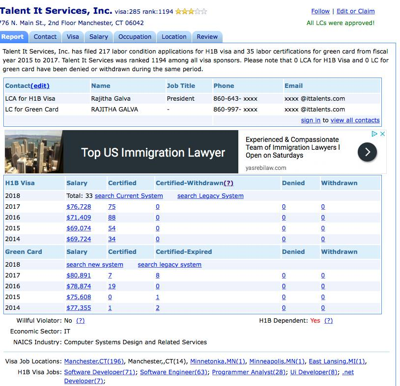 Stories of H-1B Visa Abuse and other anti-American actions