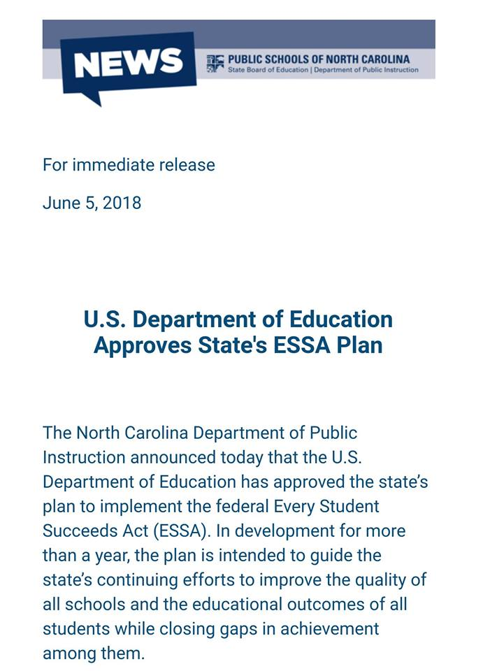 education dies in NC